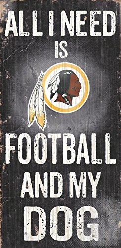 Fan Creations N0640 Washington Redskins Football And My Dog Sign (Redskins Washington Sign)