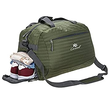 Coreal Duffle Bag Sports Gym Travel Luggage Including Shoes Compartment Women Men