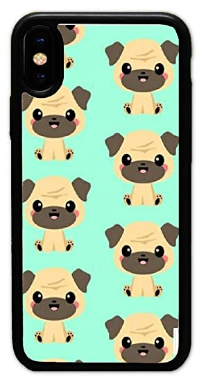 Amazoncom Pugs Wallpaper Hard Plastic Phone Cell Case