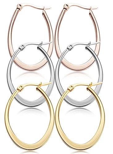Jstyle Stainless Teardrop Earrings 35 60MM