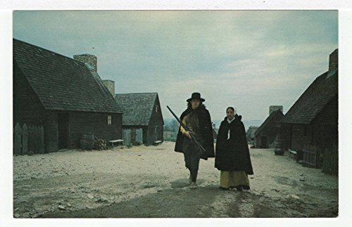 First Street - Pilgrim Man & Woman, Plymouth, Massachusetts Vintage Original Postcard #3141 - - Plymouth Women