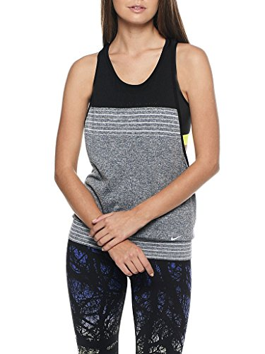 Nike Women's Dri-Fit Tank Top, Black/Grey, L