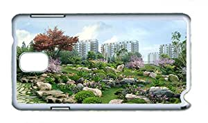 Cute durable Samsung Note 3 case 3D landscape renderings PC White for Samsung Note 3/Samsung N9000