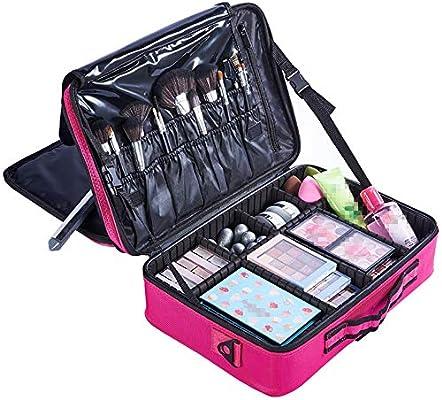 Caso cosmética Bolsas de cosméticos de viaje multifuncional con estuche de maquillaje para viajes Bolsas de artículos de tocador para mujeres adolescentes Con divisores ajustables para los cosméticos: Amazon.es: Hogar