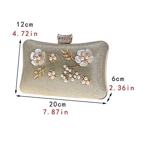 Banquet Bag Women's Bag 1 American European Flower And Clutch HKC Lady's Evening Dinner xnUCqwI8a