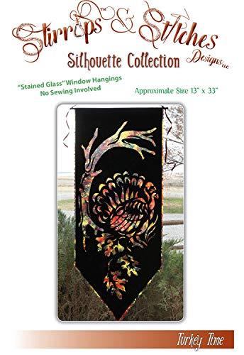 Turkey Time Thanksgiving Silhouette Stirrups & Stitches Quilt Pattern