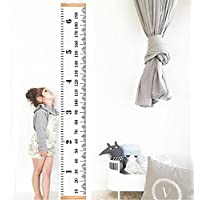 Infant Baby Height Growth Chart Roll Up Hanging Wood...