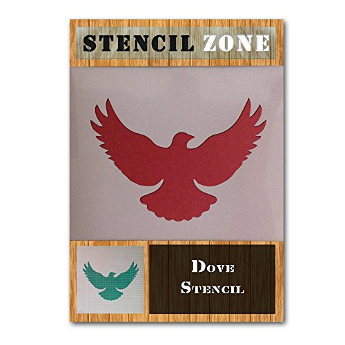 Dove Bird Flying Animal Mylar Airbrush Painting Wall Art Stencil Two (A2 Size Stencil - Large)