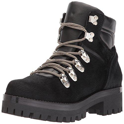Shellys London Women's Tulle Combat Boot, Black, 40 EU/9 M US -