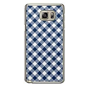 Loud Universe Samsung Galaxy Note 5 02 Transparent Edge Case - Blue/White