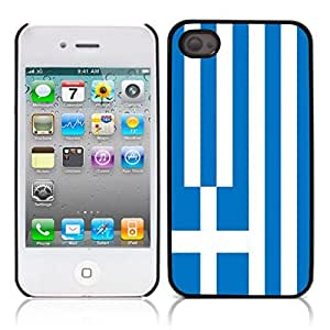 The national flag of Greece Hard Plastic and Aluminum Back Case for Apple iphone 4 4S