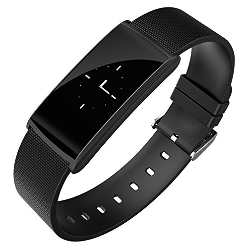 Fitness Tracker - WFCL Waterproof OLED Touch Screen Smart Watch - Heart Rate Monitor Pedometer Blood pressure Monitoring Calorie Sleep Monitor For Function - for IOS Android(Black)
