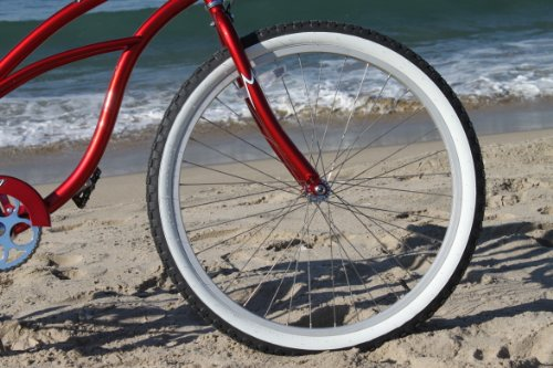 Firmstrong Urban Lady Single Speed Beach Cruiser Bicycle, 26-Inch, Red