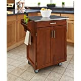 Large kitchen island cart wheels rolling roller workstation butcher block basic Home styles natural designer utility cart