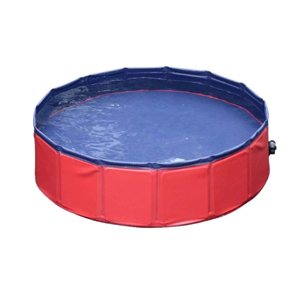 80x20cm 31x5 inch Botrong PVC Pet Swimming Pool Portable Foldable Pool Dogs Cats Bathing Tub Bathtub Wash Tub Water Pond Pool & Kiddie Pools Kids in The Garden (80x20cm 31x5 inch)