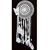 SOLEDI Dream Catcher White Feather Butterfly Side 53cm^20cm 1 circle Handmade Traditional Circular Net Home Decor Wall Car Hanging Ornament Gift