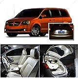 Ameritree Dodge Grand Caravan 2008-2015 ( 6 Pcs ) Xenon white Premium LED Lights Interior Package + Xenon white LED License Plate Kit