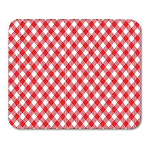ed Gingham Pattern From Rhombus Squares for Plaid Tablecloths Dresses Blankets Quilts Products Mouse pad 9.5