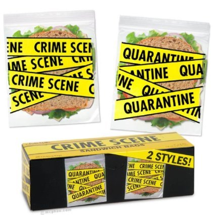 Accoutrements Crime Scene Sandwich Bags (20 Locking bags) (Accent Scene)