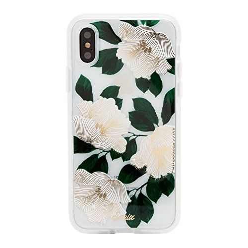 (Sonix Tropical Deco (White) Cell Phone Case [Military Drop Test Certified] Women's Protective Clear Case for Apple iPhone X, iPhone Xs)
