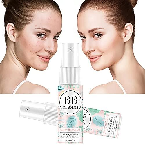 20ML BB Cream Whitening Spray Isolation Cream Moisturizing Refreshing Skin Cream, Concealer Brighten Whitening Moisturizing Base Face Foundation Face