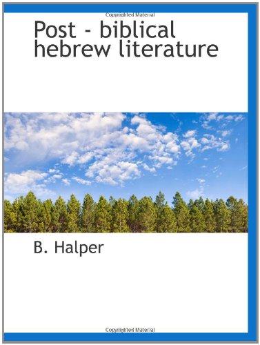 Read Online Post - biblical hebrew literature ebook