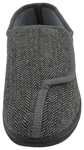 En Mémoire Slumberzzz Facilement Mens Chevrons À De Mousse Pantoufles Gris Attacher 8S8Xwx