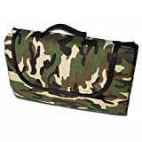 cyclamen9 Large Outdoor Waterproof Picnic Blanket Camouflage, Portable Folding Picnic Blanket Mat with Tote for The Beach,Camping, 180cm150cm(Camouflage)