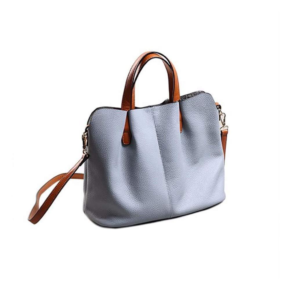 Jieson Fashion Fold Leather Handbag Shoulder Bag Mobile Messenger Bag, Modern Fashion Style Lightweight Crossbody Bag for Women All-Purpose Use (Blue) by Jieson