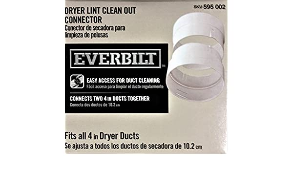 Amazon.com: Everbilt 4 in. Dryer Lint Clean Out Connector: Home Improvement