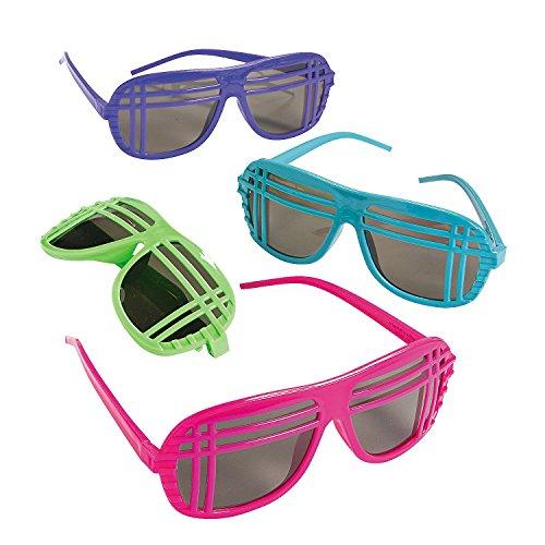 Neon 80s Style Sunglasses dozen