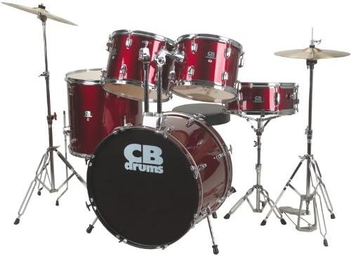 CB DRUMS rojo acústica-STANDARD-Batería para principiantes: Amazon.es: Instrumentos musicales