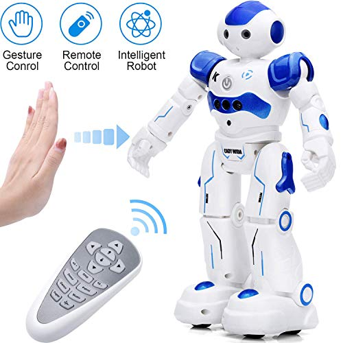 KINGSDRAGON Robot Toys RC Robot for Kids Rechargeable Intelligent Programmable Robot with Infrared Controller,Remote Control Robots Gesture Sensing Robot,Interactive Walking Singing Dancing