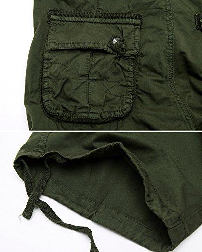 Camuffare Pantaloncini Allentati Pantaloni Casuali Quge Shorts Bermuda Militare Uomo Verde Cargo Esercito 6qcdZ