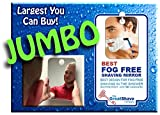 JUMBO Fog Free Shaving Mirror for the Shower. LARGEST MADE!