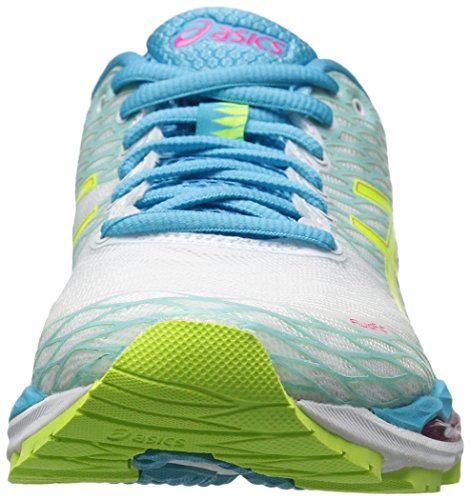 Safety M 18 Women's Nimbus Shoe ASICS White Aquarium Gel Yellow US 13 Running UCP0wtxqp