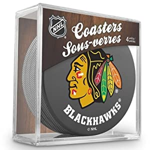 Sher-Wood Chicago Blackhawks NHL Eishockey Puck Untersetzer (4er Set)