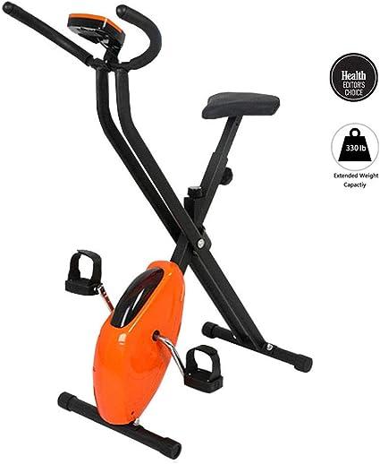 M-GLT Bicicleta estática Plegable, Bicicleta giratoria para el hogar, Equipo de Gimnasia para Interiores, pérdida de Peso, Adelgazamiento, Pantalla LED, Carga máxima 150 kg: Amazon.es: Hogar