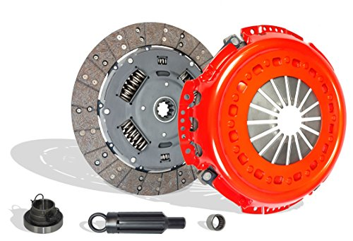 Heavy Duty Clutch Kit Works With Dodge RAM 2500 3500 Laramie SLT ST Base 2001-2005 5.9L l6 DIESEL OHV Turbocharged (Stage 2; FITS UP TO JANUARY 24, 2005 CUMMINS TURBO DIESEL6 SPEED TRANSMISSION ONLY)