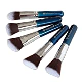 Winstonia Makeup Kabuki Brushes, Premium Quality Soft & Gentle Cosmetic Tool Set Perfect for Contour Foundation Blending Buffing