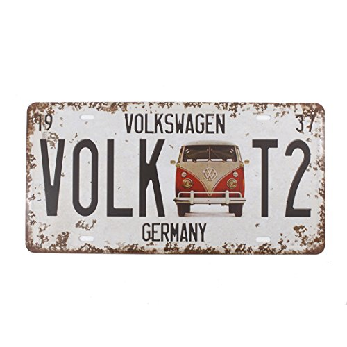 Vintage Feel Rustic Home,Bathroom and Bar Wall Decor Car Vehicle License Plate Souvenir Metal Tin Sign