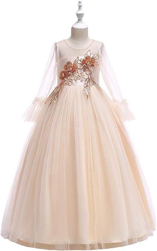CHANMI Vestido de Princesa para niñas, Falda de Vestido de Flores ...