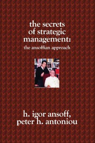 The Secrets of Strategic Management:: The Ansoffian Approach PDF