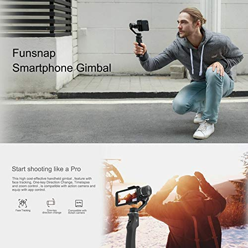 Wikiwand Funsnap Capture 3-Axis Smartphone Selfie Handheld Gimbal with Cam Adapter by Wikiwand (Image #1)