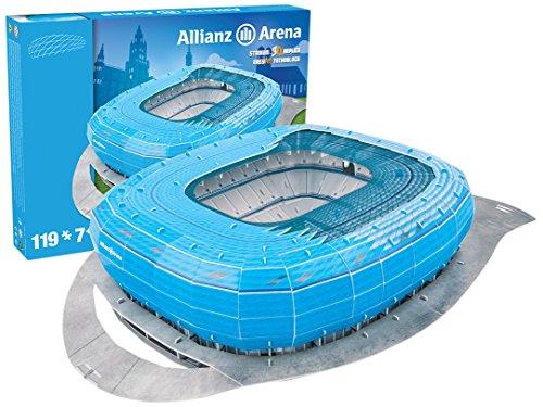 Allianz Arena 1860 Munich (Blue) Stadium 3D Jigsaw Puzzle (3d Puzzles Stadium)