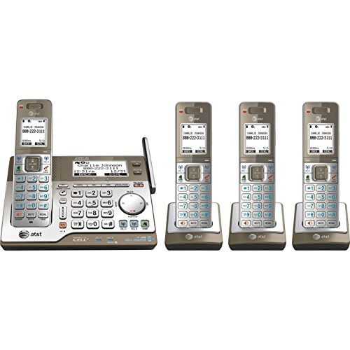 picture of AT&T CLP99483 DECT 6.0 Expandable Phone System with Three Handsets and Digital Answering System