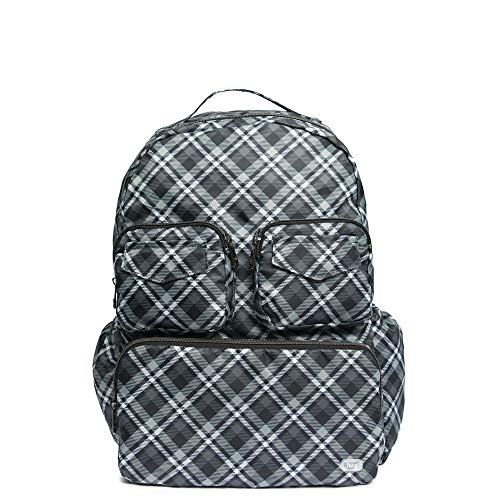 - Lug Women's Puddle Jumper Packable, Plaid Grey Backpack, One Size