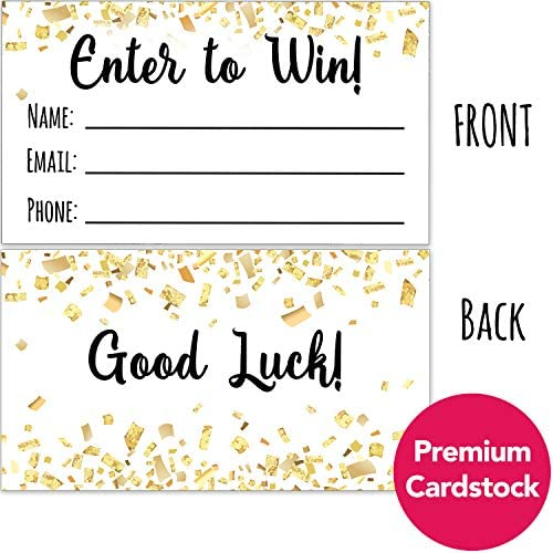 3.5x2 Entry Forms for Giveaways Carnival Themed Raffle Tickets 100 Contest Tickets