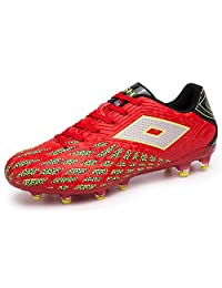 JiYe Men Cleats Soccer Shoes Athletic Outdoor Football Pro-Sports Boots