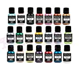 21 Rainbow Dust Metallic & Pearlescent Edible Food Paints & Single Pot of Cupcake Avenue Edible Glue